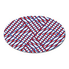 Abstract Chaos Confusion Oval Magnet
