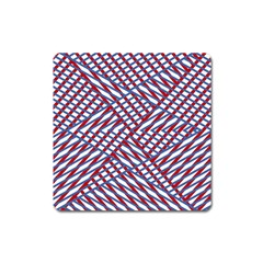 Abstract Chaos Confusion Square Magnet