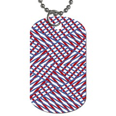 Abstract Chaos Confusion Dog Tag (two Sides)