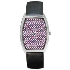 Abstract Chaos Confusion Barrel Style Metal Watch