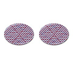 Abstract Chaos Confusion Cufflinks (oval)