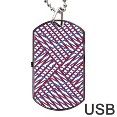 Abstract Chaos Confusion Dog Tag Usb Flash (one Side)