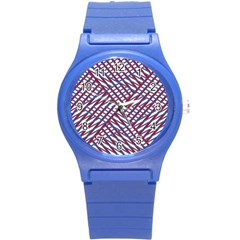 Abstract Chaos Confusion Round Plastic Sport Watch (s)