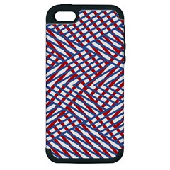 Abstract Chaos Confusion Apple Iphone 5 Hardshell Case (pc+silicone)