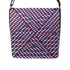 Abstract Chaos Confusion Flap Messenger Bag (l)