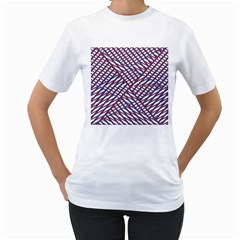 Abstract Chaos Confusion Women s T Shirt (white)