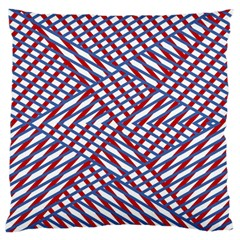 Abstract Chaos Confusion Large Flano Cushion Case (two Sides)