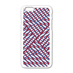 Abstract Chaos Confusion Apple Iphone 6/6s White Enamel Case