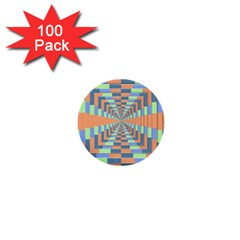Fabric 3d Color Blocking Depth 1  Mini Buttons (100 Pack)