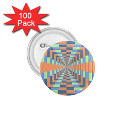 Fabric 3d Color Blocking Depth 1 75  Buttons (100 Pack)