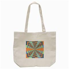 Fabric 3d Color Blocking Depth Tote Bag (cream) by Nexatart