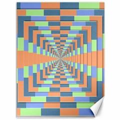 Fabric 3d Color Blocking Depth Canvas 36  X 48