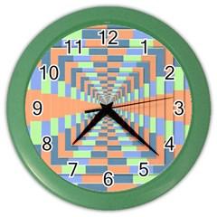Fabric 3d Color Blocking Depth Color Wall Clocks