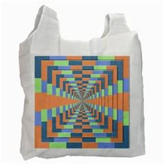 Fabric 3d Color Blocking Depth Recycle Bag (two Side)