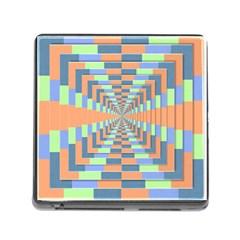 Fabric 3d Color Blocking Depth Memory Card Reader (square)