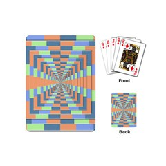 Fabric 3d Color Blocking Depth Playing Cards (mini)