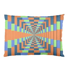 Fabric 3d Color Blocking Depth Pillow Case (two Sides) by Nexatart