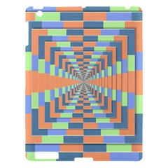 Fabric 3d Color Blocking Depth Apple Ipad 3/4 Hardshell Case