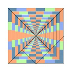 Fabric 3d Color Blocking Depth Acrylic Tangram Puzzle (6  X 6 )