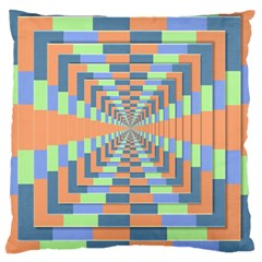 Fabric 3d Color Blocking Depth Large Cushion Case (two Sides)