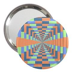 Fabric 3d Color Blocking Depth 3  Handbag Mirrors