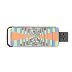 Fabric 3d Color Blocking Depth Portable Usb Flash (two Sides)