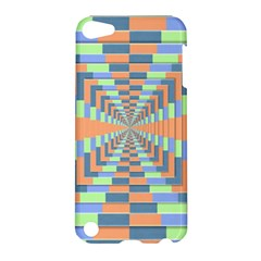 Fabric 3d Color Blocking Depth Apple Ipod Touch 5 Hardshell Case