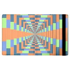 Fabric 3d Color Blocking Depth Apple Ipad 3/4 Flip Case