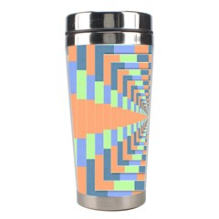 Fabric 3d Color Blocking Depth Stainless Steel Travel Tumblers