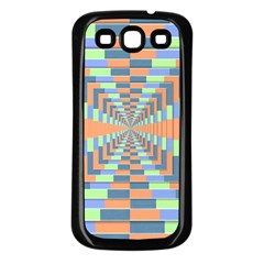 Fabric 3d Color Blocking Depth Samsung Galaxy S3 Back Case (black)