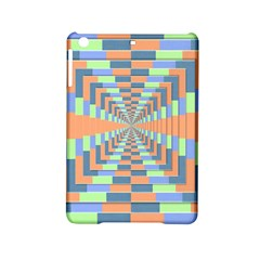 Fabric 3d Color Blocking Depth Ipad Mini 2 Hardshell Cases