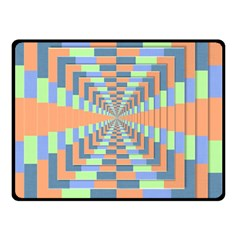 Fabric 3d Color Blocking Depth Double Sided Fleece Blanket (small)  by Nexatart