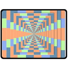 Fabric 3d Color Blocking Depth Double Sided Fleece Blanket (large)  by Nexatart