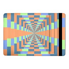 Fabric 3d Color Blocking Depth Samsung Galaxy Tab Pro 10 1  Flip Case