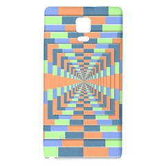 Fabric 3d Color Blocking Depth Galaxy Note 4 Back Case