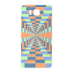 Fabric 3d Color Blocking Depth Samsung Galaxy Alpha Hardshell Back Case