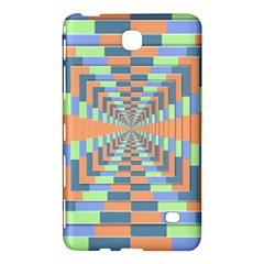 Fabric 3d Color Blocking Depth Samsung Galaxy Tab 4 (8 ) Hardshell Case