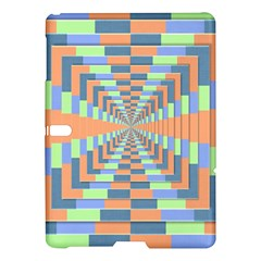 Fabric 3d Color Blocking Depth Samsung Galaxy Tab S (10 5 ) Hardshell Case