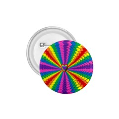 Rainbow Hearts 3d Depth Radiating 1 75  Buttons