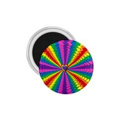 Rainbow Hearts 3d Depth Radiating 1 75  Magnets