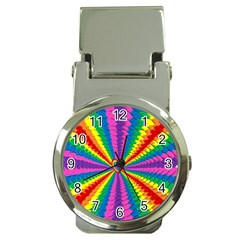 Rainbow Hearts 3d Depth Radiating Money Clip Watches