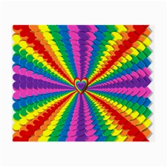 Rainbow Hearts 3d Depth Radiating Small Glasses Cloth (2 Side)