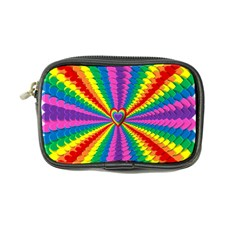 Rainbow Hearts 3d Depth Radiating Coin Purse