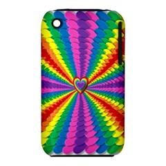 Rainbow Hearts 3d Depth Radiating Iphone 3s/3gs