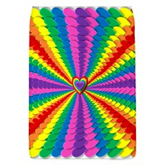 Rainbow Hearts 3d Depth Radiating Flap Covers (l)