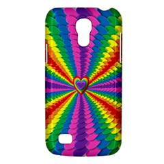 Rainbow Hearts 3d Depth Radiating Galaxy S4 Mini