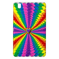 Rainbow Hearts 3d Depth Radiating Samsung Galaxy Tab Pro 8 4 Hardshell Case