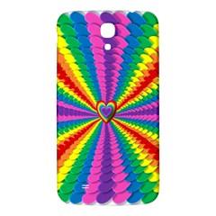 Rainbow Hearts 3d Depth Radiating Samsung Galaxy Mega I9200 Hardshell Back Case