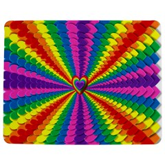 Rainbow Hearts 3d Depth Radiating Jigsaw Puzzle Photo Stand (rectangular)