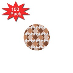 Fabric Texture Geometric 1  Mini Buttons (100 Pack)